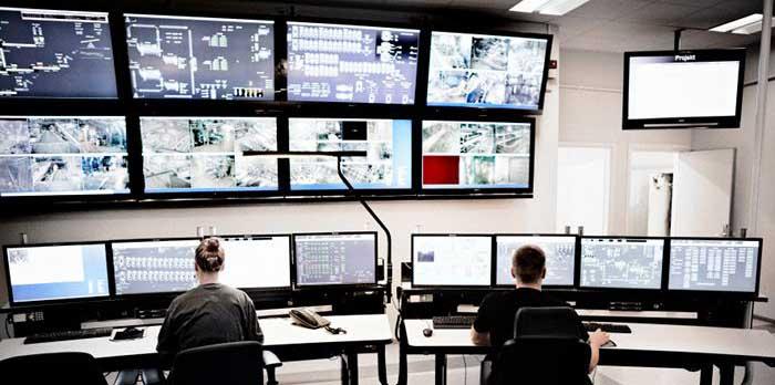 Boliden Aitik control room