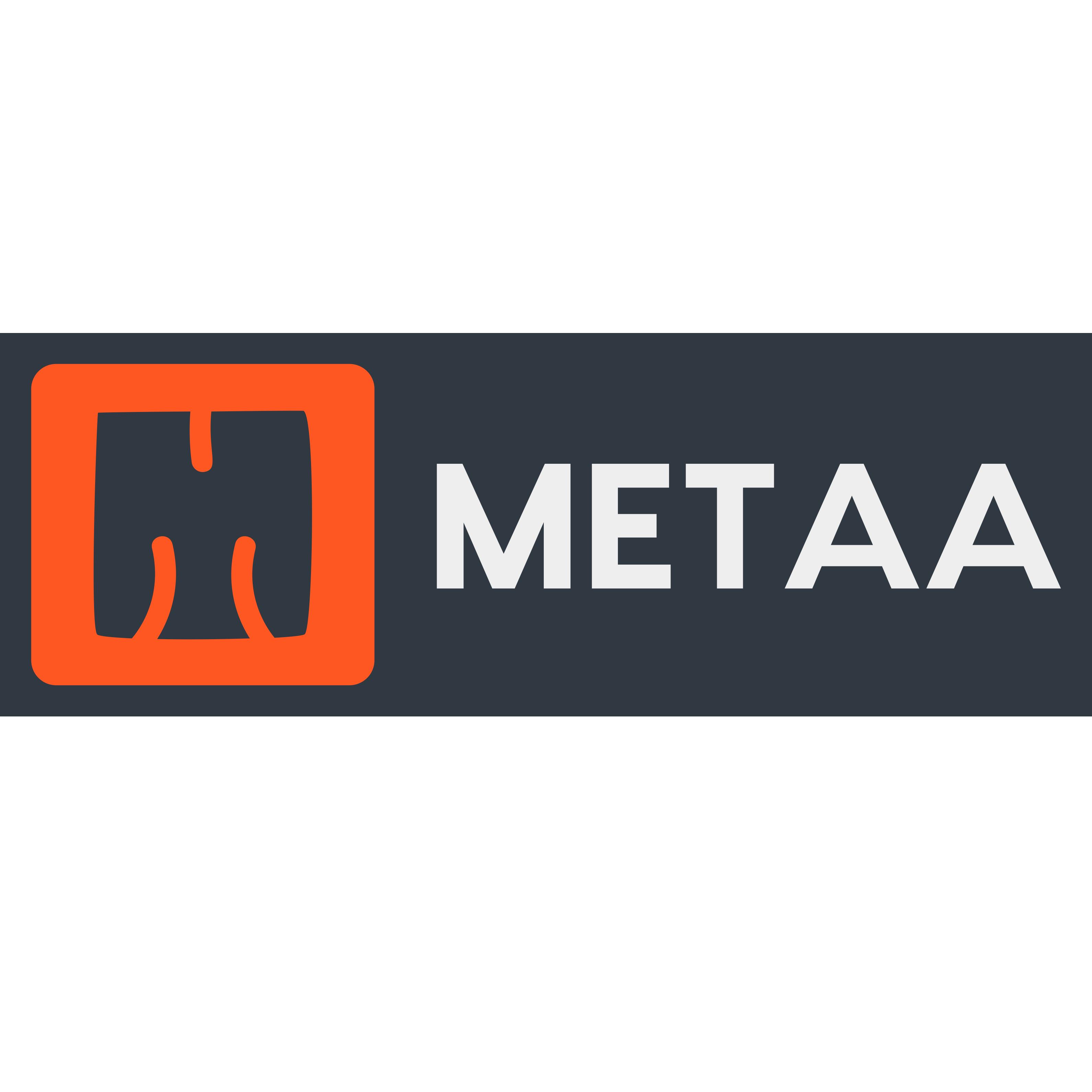 METAA logotype square format